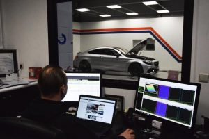 Chiptuning Mercedes AMG C63 S testbank